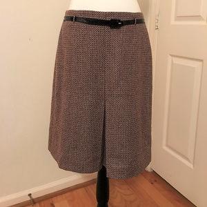 LOFT - Pleated A Line Wool Skirt Career Work